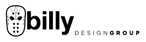 Turquoise Billy Smith logo. Vancouver web design