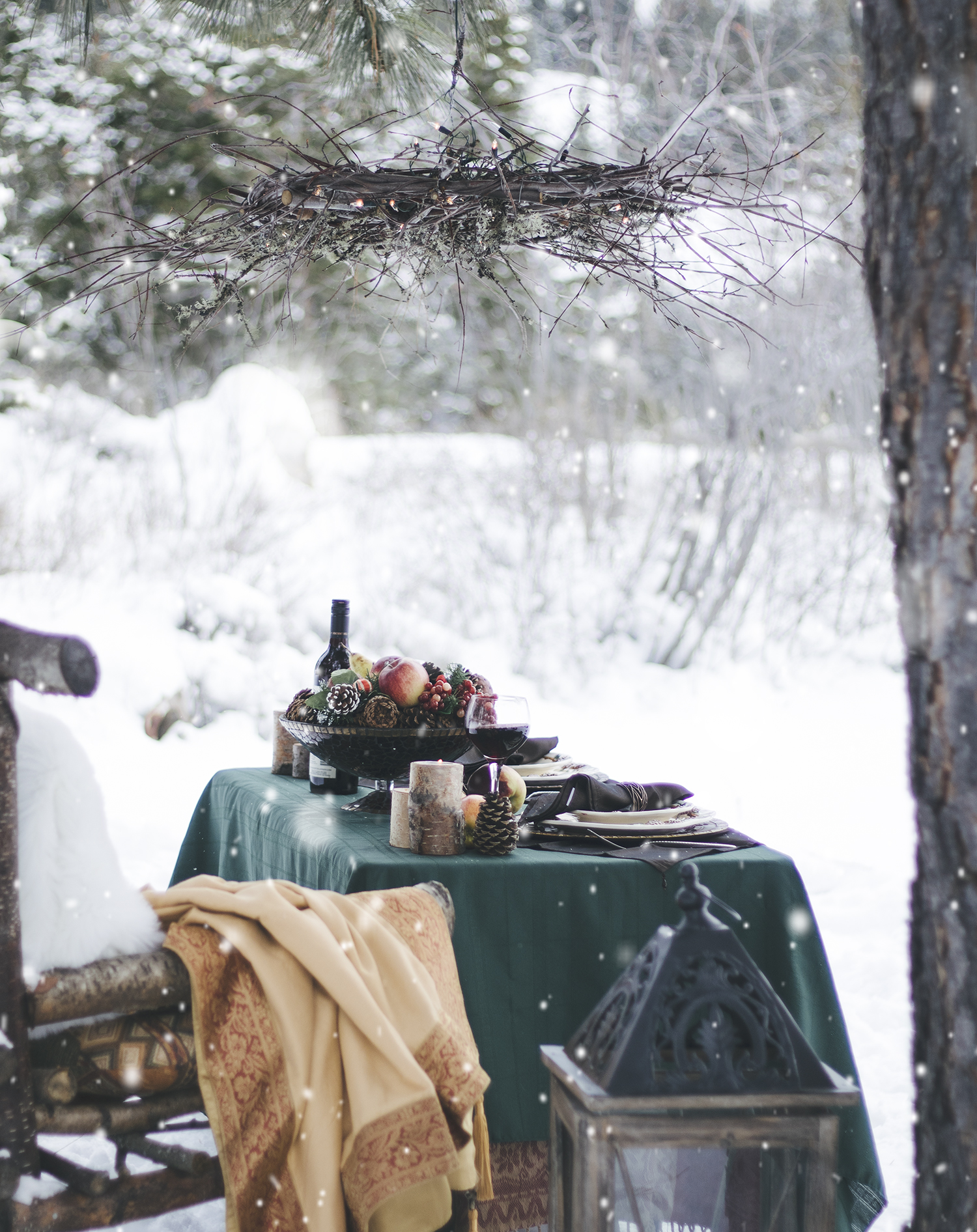vancouver photography, tablescape, winter, kelowna