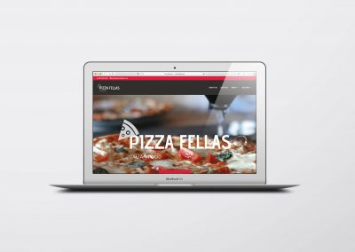 Pizza Fellas. Vancouver Website Design