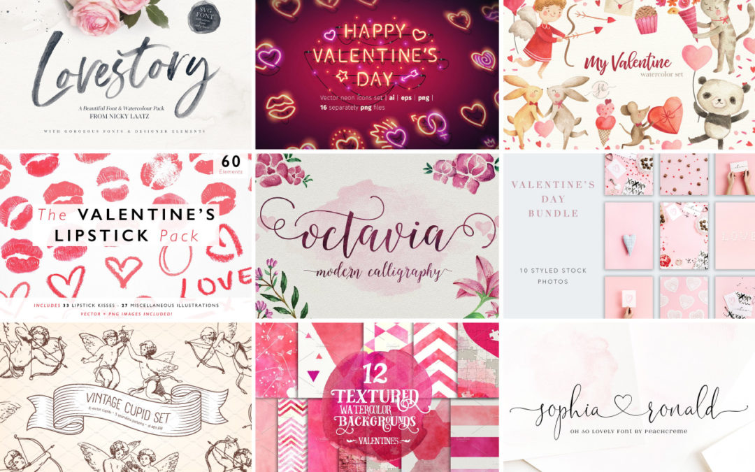 Valentine's Day Design Assets To Up Your Marketing Game!
