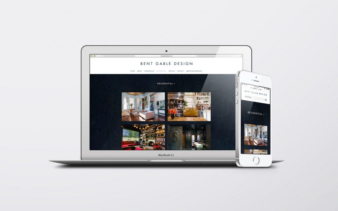 A refreshed website design for Bent Gable Design Inc