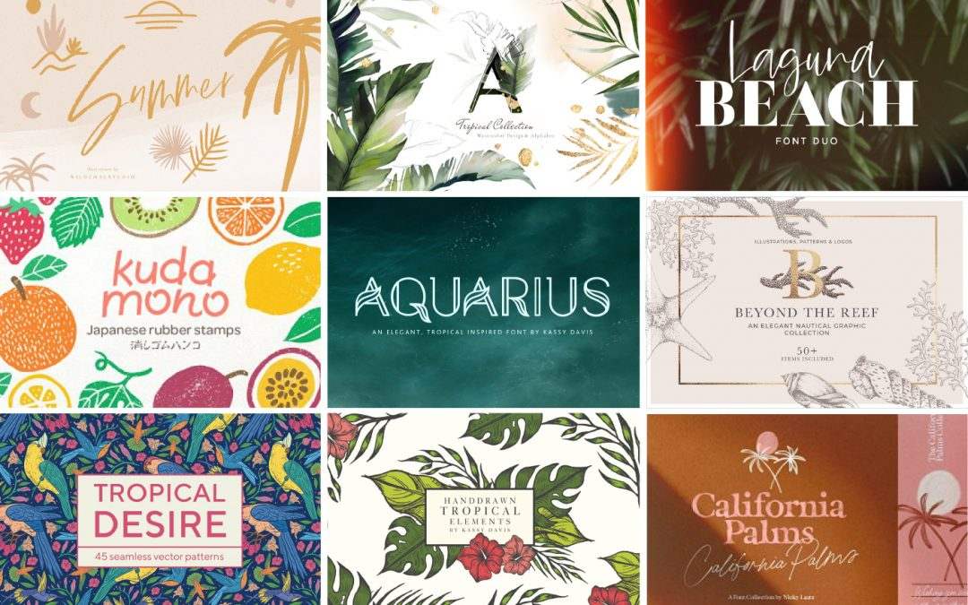 16 Tropical Design Elements To Take Your Brand From Summer to Winter Vacation